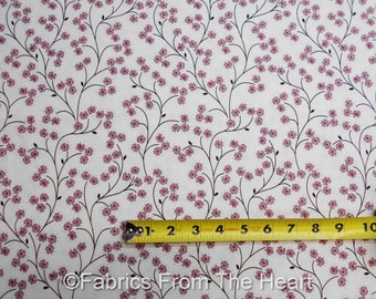 Meadowsweet Primrose Flowers Cream Vines BY YARDS Michael Miller Cotton Fabric
