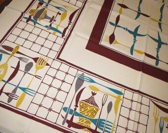 Vintage Tablecloth MWT Unused Simtex Modern