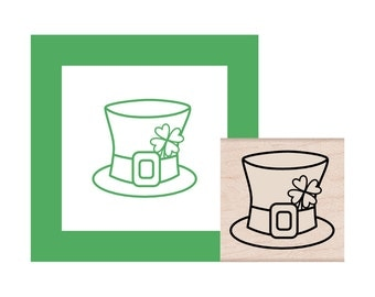 NEW for 2017 St Patricks Day Leprechaun Hat Rubber Stamp