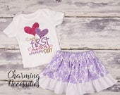 ON SALE Baby Girl Mother's Day Outfit, Newborn Girl Coming Home Outfit, Toddler Girl Clothes, Baby Shower Gift, My First Mothers Day lavende