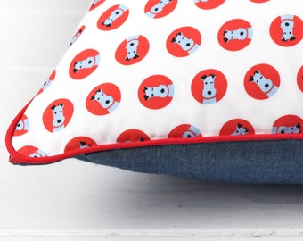 Winking Dog Cushion - Terrier Owner Gift Terrier Dog Gift Terrier Cushion Terrier Pillow Terrier Print Decorative Pillow Dog Lover