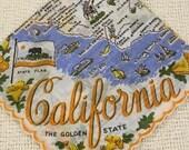 Vintage State Handkerchief
