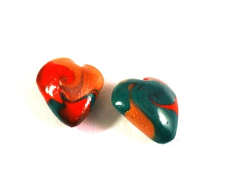 Polymer Clay Beads, Polymer Beads, Beads for Sale, Loose Beads, Clay Beads, Handmade Beads, Fimo Beads, Beading Supply, Earring Beads