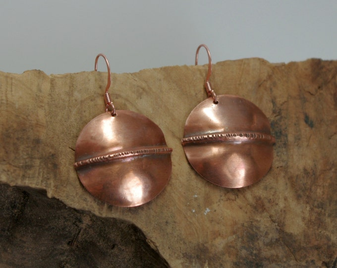 Copper Fold Form Earrings