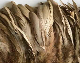 RUSTICA COQUE TAIL Feathers , Khaki, Dark Gold  / 1298