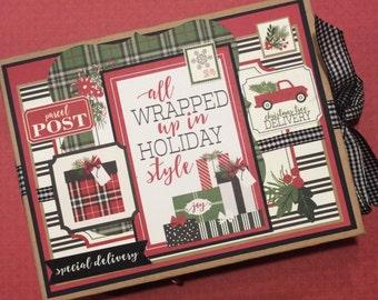 Christmas Mini Album, Holiday Album, Photo Album, Christmas, Gift, Photo Journal
