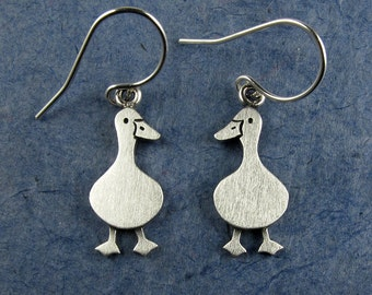 Tiny duck earrings