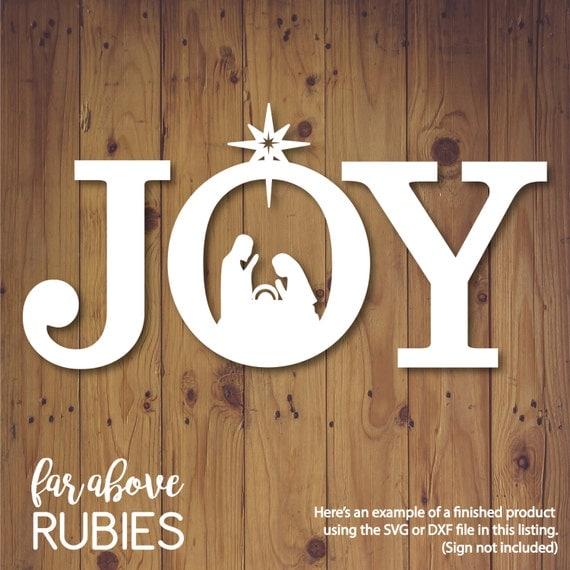 Download JOY Nativity Christmas SVG, DXF, png, jpg digital cut file ...
