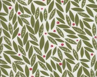 Moda Fabrics Merrily Holly in Holly Green - half yard