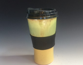 Travel Mug- Spring Green and Yellow #1