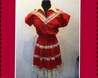Vintage 1950s patio dress