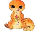 Tangerine Gecko Fine Art Print