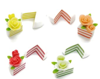 Miniature Foods Polymer Clay Supplies for Dollhouse Collection and Bakery Jewelry, 4 sets