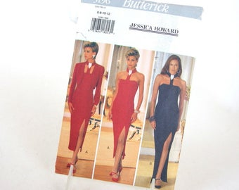 Vintage 1990's Formal with Bolero Jacket Sewing Pattern, Butterick 3196, Sizes 6, 8, 10, 12, Bust 30.5 - 34 Inches