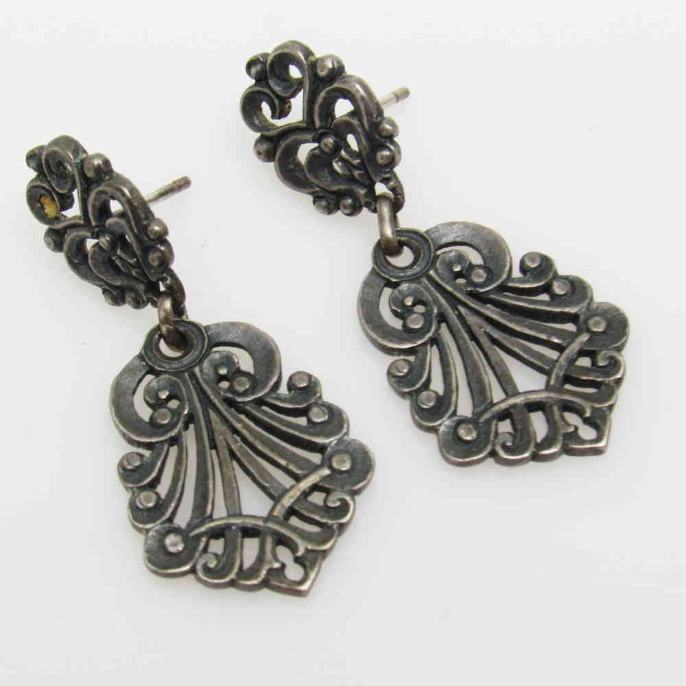 james avery sterling earrings pendant drop vintage jewelry