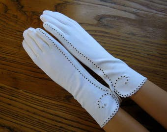 Strawbridge & Clothier White Gloves, Unused/Tags, Size 6.5, Aris Dress Gloves, Long Dress Gloves, Bridal Gloves, Prom Gloves, Vintage Gloves