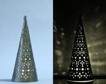 Decorative Christmas Tree Light   Small Tree Lantern   Laser Cut Holiday Decoration   Handmade Christmas Home Decor   Tea Light Tree Lantern
