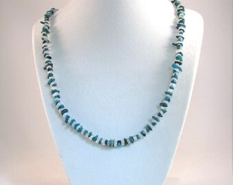 Turquoise and Moonstone Necklace 25 inches RKS548 RKMixables Silver Collection