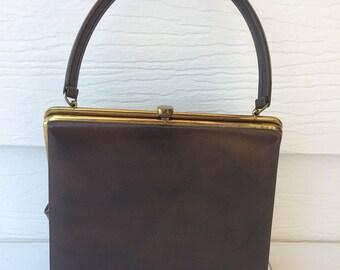 1960's Brown Handbag/Purse