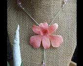 CUSTOM orchid - Real Dendrobium orchid, with sterling silver and Austrian Crystals.  RESERVE for LM