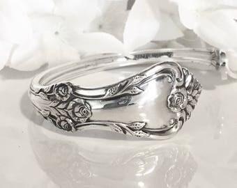 Spoon Bracelet Cuff, STERLING Silver Cuff Bracelet, Silver Bracelet Cuff, Spoon Jewelry, Sterling Silver Cuff Bracelet - 1956 AFTERGLOW