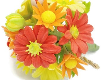 Everlasting Memorable Bouquet, miniature handcrafted flowers 1 bunch