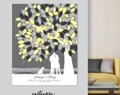 canvas wedding guestbook, canvas wedding guest book, canvas wedding tree guest book, canvas unique wedding guest book // W-T05-1PS HH3