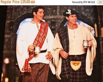 on SALE 25% OFF Mens Kilt Pattern UNCUT Size Xs S M Simplicity Costume Pattern for Mens Celtic Shirt Pants Spats Hat Pouch Chest 30 32 34 36