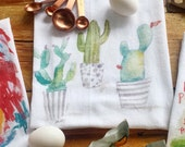 Cacti  Dish towel, cactus dishtowel, succulent kitchen gifts, succulent themed gifts, plant lady, tea towel, cactus gifts, plant lover