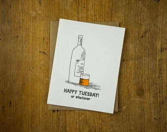 HAPPY TUESDAY! letterpress card
