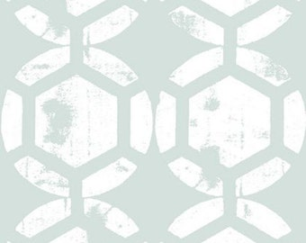 """HDTY13.ICEXX Ty Pennington Impressions 2 Honeycomb Ice Wide HOME Dec Designer Quilting 55"""" HY Rowan Westminster Half Yard 18"""" Sewing Fabric"""