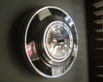 Vintage 1970's Chevy Truck Hubcap Clock no.2454