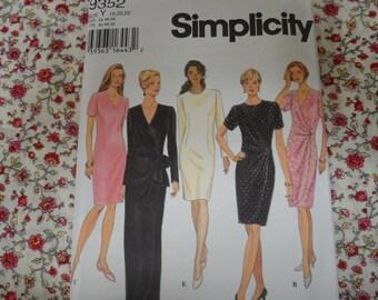 Simplicity 9352 Misses Dress Pattern Size 18-20-22 Uncut