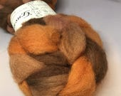 Dry Leaves - 4oz - 114g - Carded Cheviot Roving