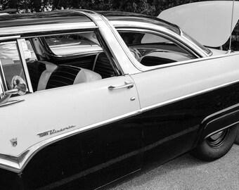 Vintage Crown Victoria Car Photography, Automotive, Auto Dealer, Muscle, Sports Car, Mechanic, Boys Room, Garage, Dealership Art