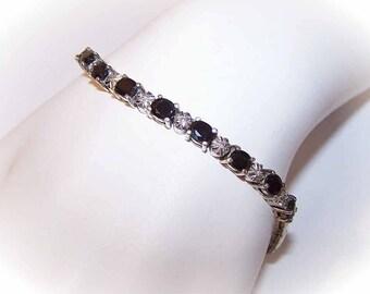 VIntage Bracelet,Sterling Bracelet,Silver Bracelet,Silver Vermeil,Gold Wash,Sapphire Bracelet,Diamond Bracelet.Tennis Bracelet