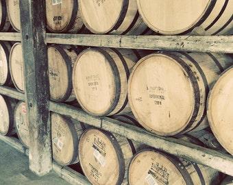 Bourbon Barrels Kentucky Original Color Photograph Home Decor Gift