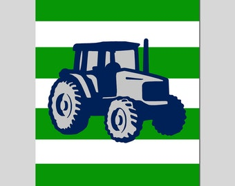 Tractor Nursery Art Print Tractor Decor Nursery Baby Boy Tractor Nursery Wall Art Farm Nursery Boy Nursery Decor - CHOOSE YOUR COLORS