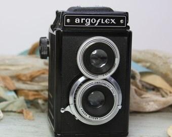 Vintage CAMERA- Argus Argoflex- Vintage Photography- Industrial Design- Twin Lens Viewfinder- E16