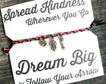 Spread Kindness Bracelet - Pink / Grey / Black
