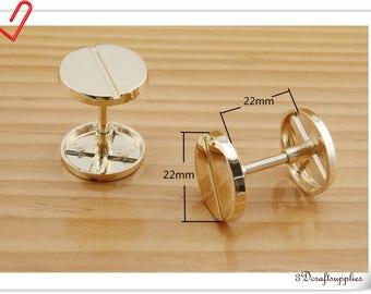 6pcs Flat Bar screws 22mmx22mm  Big head screws Strap holder AB2