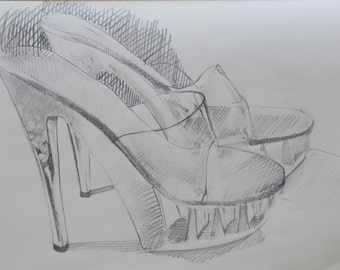 Daily Sketch #70 an original drawing by South Carolina artist Linda Hunt