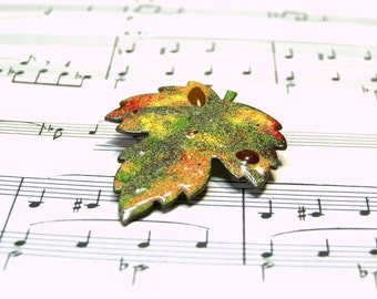 Vintage Brooch Copper Pin Enamel Brooch Leaf Pin Best Selling Jewelry Top Selling Brooch Gift Ideas Best Vintage