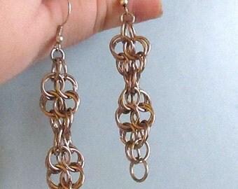 Biology Jewelry - DNA Earrings - STEM Sciart Chainmaille Science Jewelry - Biology Science Teacher Student Professor Gift