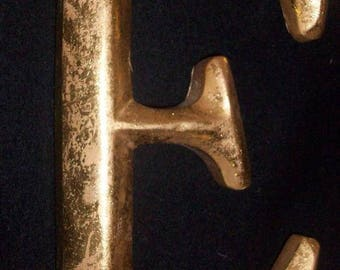 Gold Leafed Letter Initial E