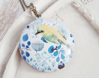 Bird Locket Necklace - Spring Song