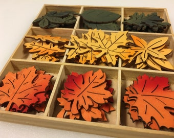 Autumn Leaf Wood Cut Out Laser Cut Maple Fall Autumn Wood Leaves