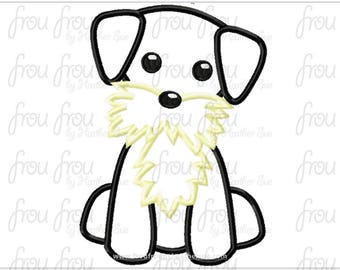 "Schnauzer Dog Digital Embroidery Design Machine Applique 4""-16"""