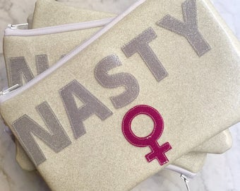 Zipper Pouch - Nasty Woman - Lined - Planned Parenthood Donation