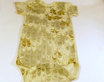 Earthy Brown and Grey Colors Marbled Baby Clothes Made In Asheville, NC MM#3BrownBaby